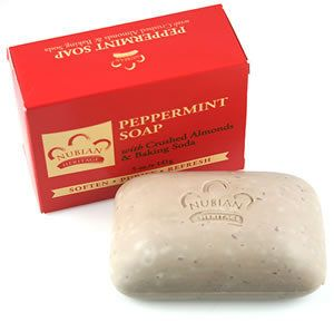 Nubian Heritage Peppermint Aloe Soap with Crushed Almonds 5oz