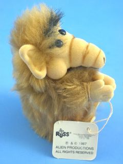 K255S Vintage Original Russ ALF Alien Furry Plush Doll Clip on 3 5