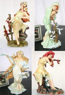Alphonse Mucha 4 Seasons Set Statue Figurine Sculpture