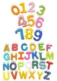 Magnetic Numbers Alphabet Fridge Magnets Toy Free Shipping