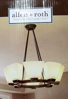 Allen Roth 8 Light Rustic Style Chandelier Dark Oil Rubbed Bronze