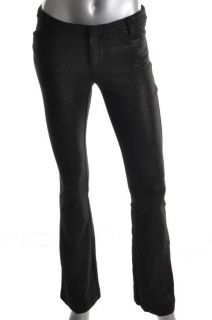 Alice Olivia New Andy Black Metallic Slim Waist Casual Pants 4 BHFO