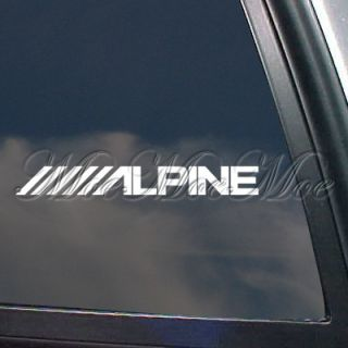 Alpine Stereo Logo Decal Car Truck Window Sticker