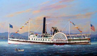 Steamboat Mount Washington on Lake Winnipesaukee 1872