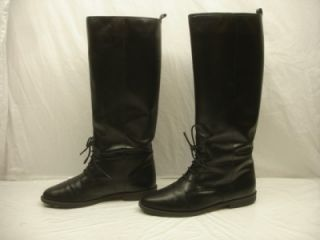 Womens 8 5 B M Marc Alpert Equestrian Riding Boots Black Leather Knee