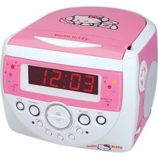 spectra hello kitty am fm stereo alarm clock radio with cd player pink