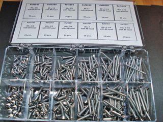 Ford Lincoln Mercury screws chrome assortment 6 8