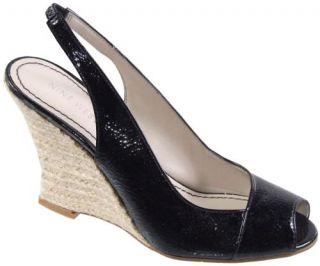Nine West Allgood Slingback Wedge Womens Sandal Mid High Heel Shoes