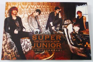 Super Junior BONAMANA 4th Type A Poster PHOTOCARD