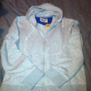 NWT Mens Eddie Bauer Zip Up Hooded Hoodie Sweatshirt Cotton Poly SAVE