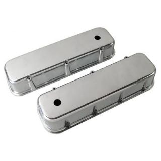 Summit Racing Die Cast Aluminum Valve Covers G3313 Chevy BBC 396 427