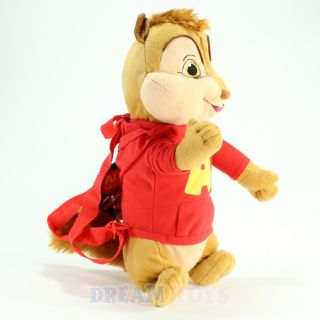 Alvin and the Chipmunks 16 Large Plush Backpack   Licensed Bag Doll