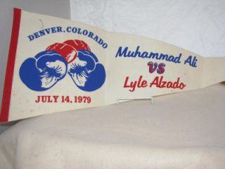 RARE 1979 Muhammad Ali vs Lyle Alzado Boxing Pennant Holiday Gift