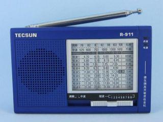 tecsun r 911 fm am sw1 9 band portable radio receiver blue