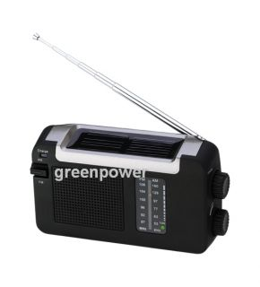 FM Am Solar USB Dynamo Hand Crank Rechargeable Radio