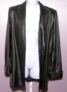 Dero by Rocco DAmelio Black Leather Jacket Size S
