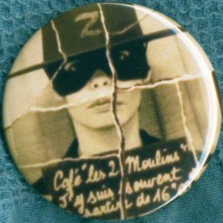 Amelie Poulain Zorro 1 Pin Button Badge Magnet Audrey Tatou Jeunet