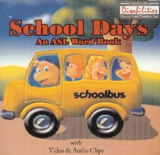 School Days American Sign Language Word Book Software
