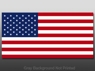 American USA Flag Sticker America US Regular Size Patriotic