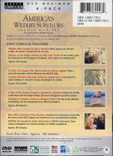 Americas Wildlife Survivors 4 DVDs Deluxe Box Gift Set 781735603000