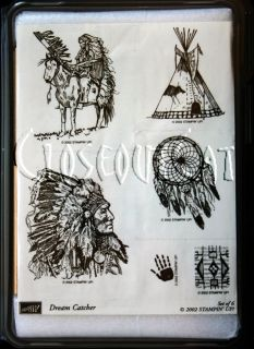 Stampin Up Dream Catcher Stamps Set New RARE Native American Indian