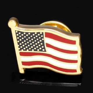 AMERICAN USA FLAG GOLD PLATED LAPEL PIN BADGE HAT PIN TIE TACK PIN