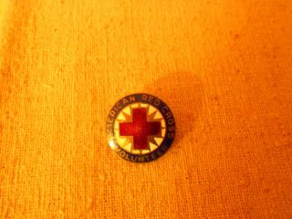 WWII American Red Cross Volunteer Sterling Silver Pin Military