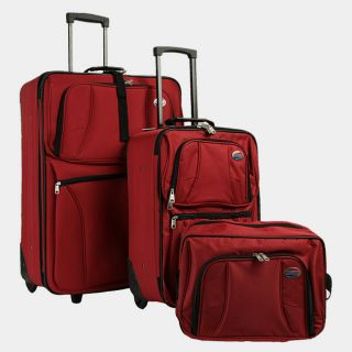 American Tourister Valencia II 3 Piece Luggage Set Red