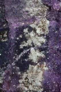 Amethyst Geode w Calcite N Agate Border Ideal GIFT2376