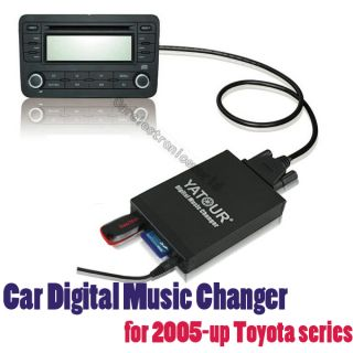 Car Digital CD Changer USB Aux SD  Music Adapter for Toyota Camery
