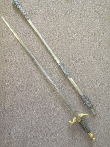 Odd Fellows Fraternal Sword.IDd to S.H.CloughHenderson Ames Co
