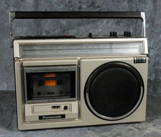 PANASONIC AM FM CASSETTE RECORDER PORTABLE RADIO Model RX 1460