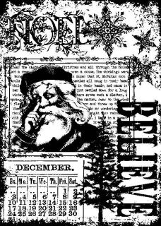 Tim Holtz ATC Size Cling Rubber Stamp COM025 CHRISTMAS MIRACLE