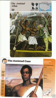 The Amistad Slave SHIP Case Story of America 2 Cards