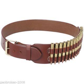 Western Leather Rifle Cartridge Belt Hand Made