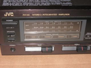 JVC AX 66 STEREO INTEGRATED AMPLIFIER. THIS UNIT IS IN GREAT WORKING
