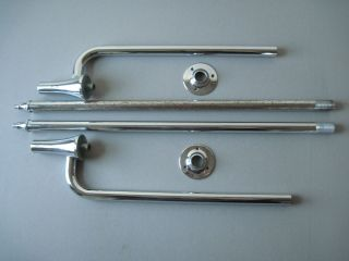 Antique Vintage American Standard Bathroom Sink Legs Towel Bars 1930S