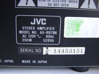 this jvc ax r97 stereo integrated amplifier this amp is used in good