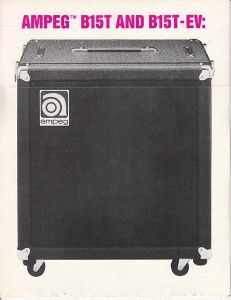 vintage ampeg electric guitar amplifiers catalog