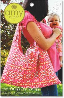 Amy Butler Nappy Bag Diaper Pad Case Sewing Pattern New