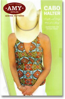 Amy Butler Cabo Halter Shirt Blouse Sewing Pattern New
