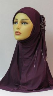 Piece Amira with Rosette w Tear Drop Hijab Hijabs Abaya Jilbab