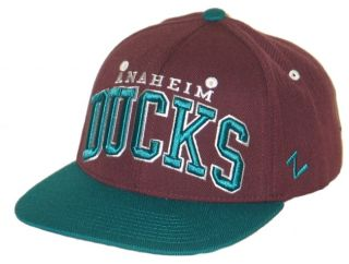 Anaheim Ducks NHL Hockey Vintage Purple Super Star Snapback Hat Cap