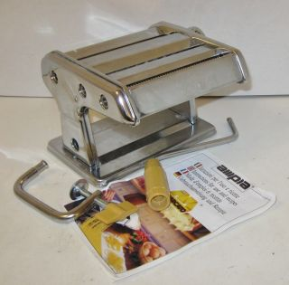 AMPIA STAINLESS STEEL PASTA MAKER BY MARCATO, ITALY, MAKES 3 NOODLE