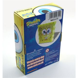 Spongebob Squarepants Analogue Yellow Alarm Clock