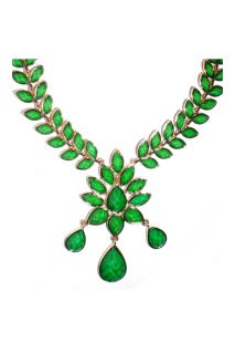 Amrita Singh New Dune Gold Plated Evergreen Necklace Collier Halskette