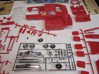 Vintage MPC AMX V8 1 20 Scale Plastic Model Car Kit w Box Instructions