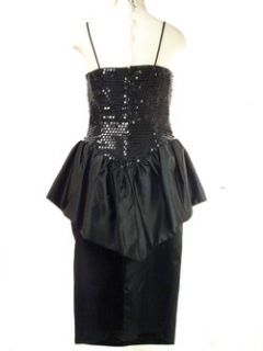 Sexy Andre Van Pier Black Ruffled Cocktail Dress 12