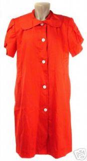 andre van pier for bergdorf goodman label red short sleeve shirt dress