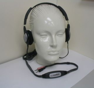 Andrea QW 100 with Invisible Microphone Quietware Headset for Computer